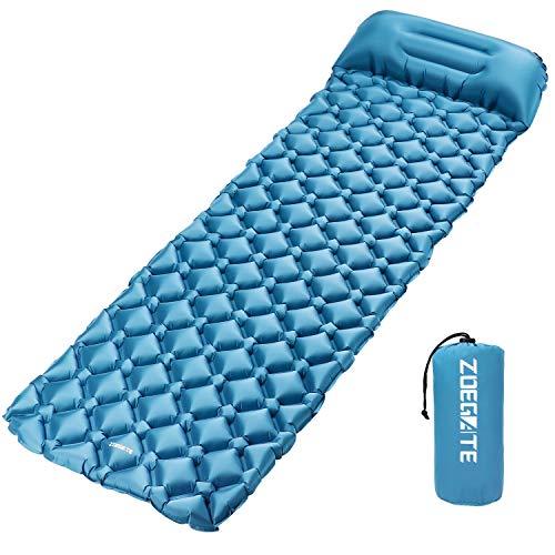 Hervorragend ENKEEO Luftmatratze Fuß Inflation 12cm Dick Ultraleichte Isomatte Aufblasbare  Matratzen Sleeping Pad, Wasserabweisend U0026 Rutschfest Für ...