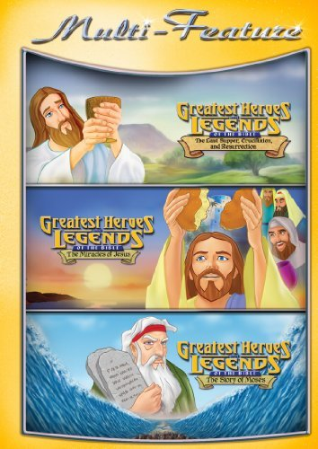 Religious Triple Feature: The Last Supper, Crucifixion And Resurrection/The Story Of Moses/The Miracle Of Jesus DVD by N/a
