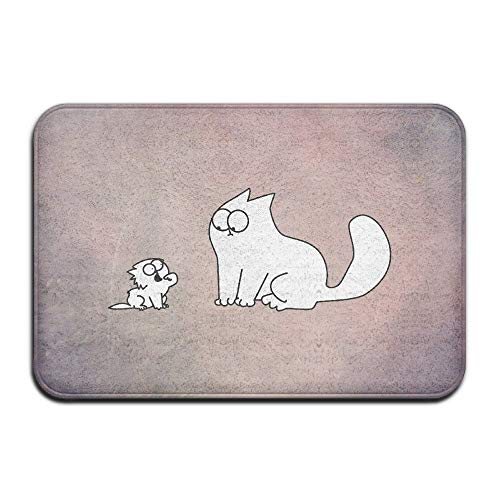 Wamnu Personalized Indoor Or Outdoor Doormat - Simon's Cat Kitchen Doormat Bath Mat, Non-Slip and Thin Design, Size 40X60CM Cocker Spaniel Baseball
