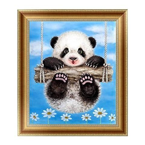 Loegrie Panda Mignon 5d Diamant Peinture Broderie au point de croix DIY Art Craft Home Décoration murale