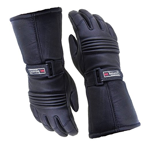 Mens Leather Winter Thermal LABELLED Waterproof Inserts Thinsulate Motorcycle Gloves L Large