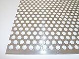 B&T Metall Aluminium Lochblech 2,0 mm stark Rundlochung Ø 8 mm versetzt RV 8-12 Größe 50 x 100 cm (500 x 1000 mm)