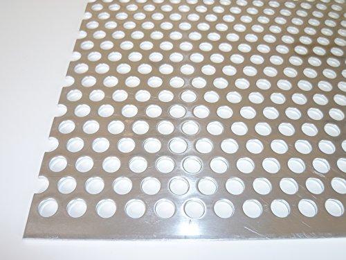 B&T Metall Aluminium Lochblech 2,0 mm stark Rundlochung Ø 8 mm versetzt RV 8-12 Größe 25 x 25 cm (250 x 250 mm)