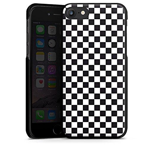 Apple iPhone 6s Plus Silikon Hülle Case Schutzhülle Schachbrett Ska Quadrat Hard Case schwarz