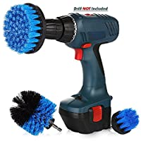 Juleya Drill Brush Power Scrubber Cleaning Tool, 3Pcs/Set Cleaner Scrubbing Brushes for All Purpose Bathroom Surface, Grout, Tub, Shower, Kitchen, 5cm/10cm/12.5cm