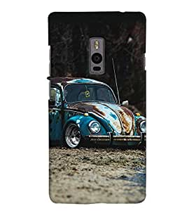 Printvisa Vintage Rusty Automobile Back Case Cover for One Plus Two::One Plus 2::One+2