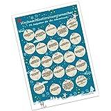 Adventskalender mit Aufgaben für Erwachsene : Weihnachtsstimmungsmacher blau, 24 weihnachtliche Aufgaben für die Adventszeit, A4, 21x30, Büttenpapier