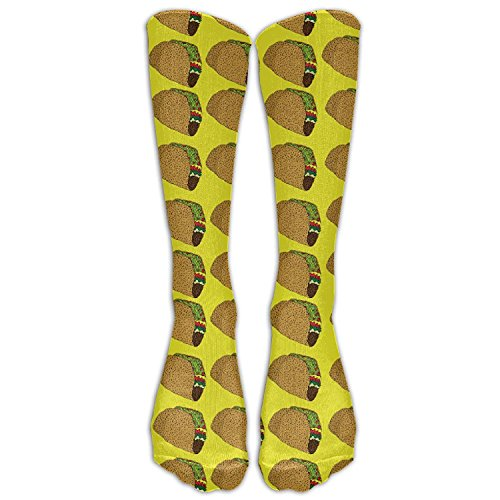 khgkhgfkgfk Unisex Mexiko Tacos wiederholen kniehohe lange Socken Athletic Sports Tube Strümpfe für Laufen, Fußball, Fußball 19,68 Zoll -
