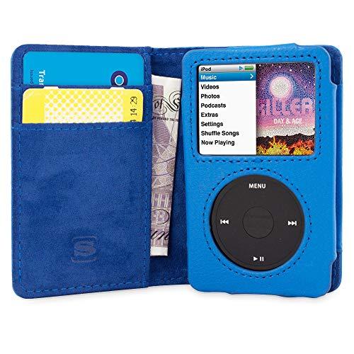 Snugg iPod Classic Hülle, Apple iPod Classic Handyhülle mit Kartenfach und Standfunktion - Blau, Legacy Range