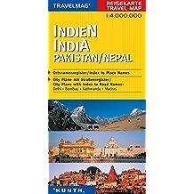 Cartes de voyage Inde, Pakistan, Népal 1 : 4 Mio