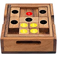 Setting Sun: Rompicapo in Legno - Puzzle per Adulti - Puzzle 3d Legno - Giochi Strategia - Giochi di Logica per SiamMandalay with Free Gift Box (Pictured)