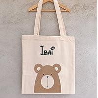 Tote Bag Petit Ours à personnaliser - sac renard à personnaliser - sac shopping - sac de course - sac personnalisé - tote bag personnalisé