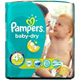 Pampers Baby Dry Paquet de 24 couches Taille 4 +