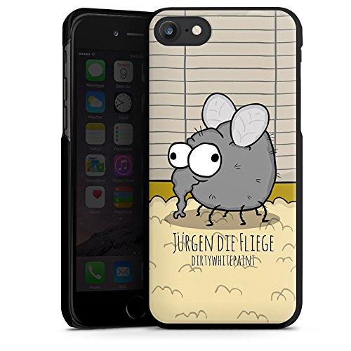 Apple iPhone X Silikon Hülle Case Schutzhülle DirtyWhitePaint Fanartikel Merchandise Jürgen die Fliege Hard Case schwarz