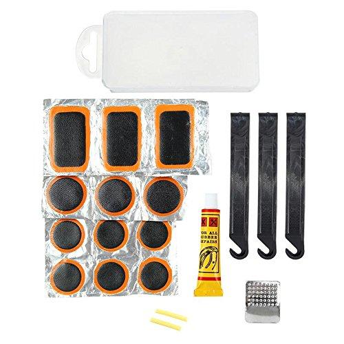 Bike kit di riparazione pneumatici, tubo interno patch bicicletta strumento di manutenzione anche per gommoni gonfiabili, atv, bmx e moto