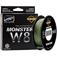 SeaKnight | Monster W8 | Línea de Pesca Trenzada | 8 Cables | Baja Visibilidad Verde | 30 LB | 0.23 mm | 500 MT