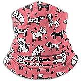 Scaldino per cuccioli di cane rosa corallo luminoso Girly Pet - Collo reversibile, scalda orecchie, maschera e berretto. Massima ritenzione termica