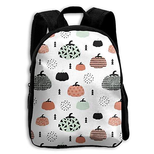 stom Fall Fruit Geometric Pumpkin Halloween Coral Mint Orange School Backpack Bookbags Middle Bags Daypack for Boys Girls Kinderrucksack Rucksack ()