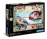 Clementoni- Vatican Puzzle-Michelangelo: La Creazione dell'uomo-1000 Pezzi, Multicolore, 39496