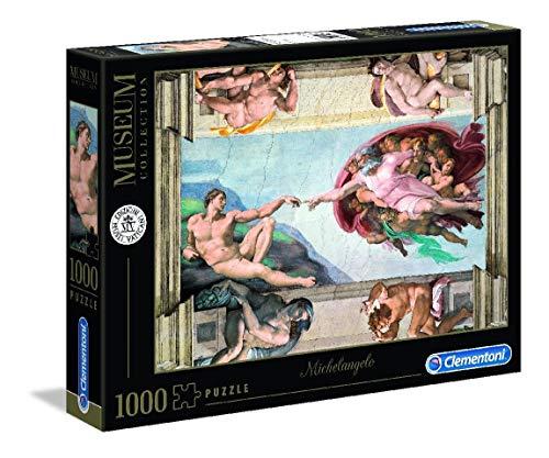 Clementoni 39496 Clementoni-39496-Vatican Collection-Michelangelo-Die Erschaffung Adams-1000 Teile, Mehrfarben