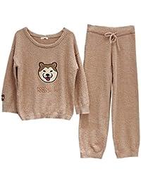 6119ba8da9 ... Nachtwäsche Spitzenbesatz Top Pyjama Sets · EUR 0,69 · Mmllse Dicker  Weicher Samt Männlichen Niedlichen Hundepaar Pyjamas Gesetzt Weiblich