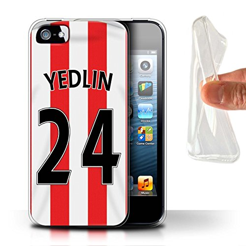 Offiziell Sunderland AFC Hülle / Gel TPU Case für Apple iPhone SE / Kaboul Muster / SAFC Trikot Home 15/16 Kollektion Yedlin