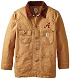 Best Carhartt Coats And Jackets - NCAA Alabama Crimson Tide Men's Weathered Chore Coat Review