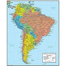 Carte Damerique Du Sud Avec Les Pays.Amazon Fr Carte Amerique Sud