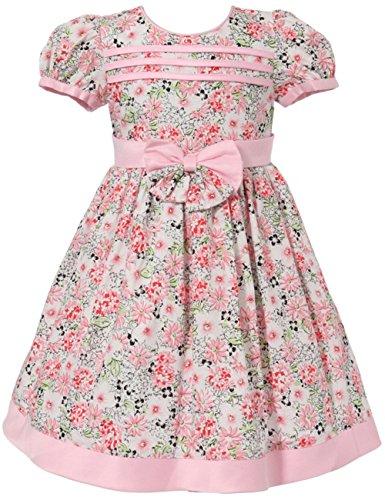 Richie House Mädchen pink floral Schleife Puff