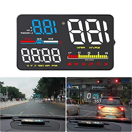 Digital Universal HUD GPS Head Up Dispaly Projektor Tachometer Auto LKW Kilometerzähler mit Übergeschwindigkeit Warnung Bildreflektor D5000 Kit