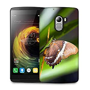 Snoogg Brown Butterfly Designer Protective Phone Back Case Cover For Lenovo Vibe K4 Note