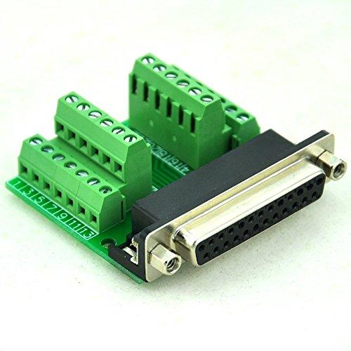 Breakout-modul (Electronics-Salon Slim rechts Winkel D 'sub DB25-Buchse Header Breakout Board Modul, TERMINAL BLOCK DSUB Stecker.)