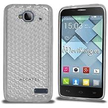 Funda Gel SILICONA de Color Blanco transparente para Alcatel One Touch Idol Mini (OT-6012) - Orange Hiro