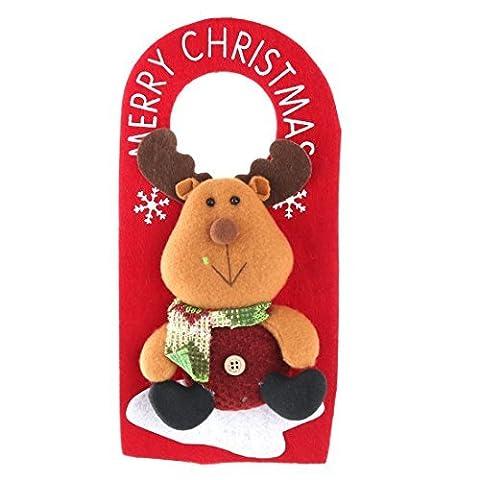 DealMux Felt Festival Reindeer Adornment Doorplate Christmas Door Decoration Drop Ornament