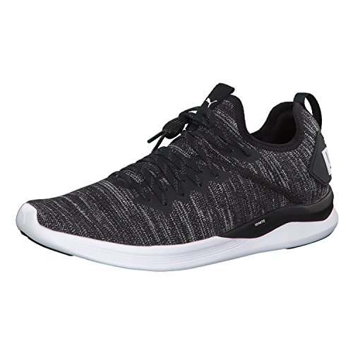 Puma Herren Ignite Flash Evoknit Cross-Trainer, Schwarz Black-Asphalt-White, 45 EU (Herren Cross-trainer Sneaker)