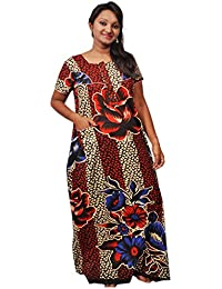 AISNIGHA Womens multi Print Cotton Nighty a deep 5058 | Womens Soft and Comfortable Nightgown for Straight-Fit | Ladies Nighty Set | High-Quality Nightwear for Everyday Use – Large | XL | XXL | stylish piece of ladies nighty that is ultra-soft and durable | Made from best quality materials | comes under best price