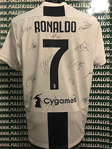 JUVE Maglia Gara Home Europa Ronaldo 7' Autografata F.C. Juventus 2018/2019
