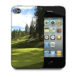 Snoogg Green Park For Golf Designer Protective Phone Back Case Cover For Apple Iphone 4