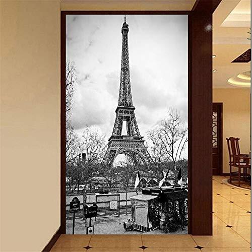 Wandbild Tapeten Wandtattoos3 D Benutzerdefinierte Tapeten Möbel Dekorative Tapete Foto Luxuriöse Wohnzimmer Veranda Der Eiffelturm 3 D Tapete, 200 * 140Cm -