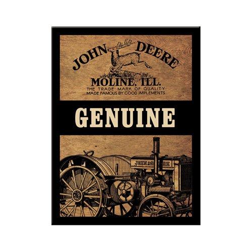 John Deere Magnet (Nostalgic-Art 14203 John Deere - Genuine, Magnet 8x6 cm)
