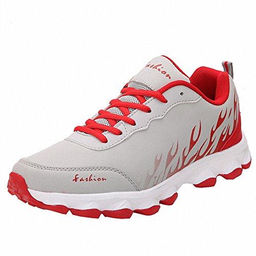 Ben Sports Damen Herren Sneaker Trail Turnschuhe Laufschuhe für Frauen Herren Grau