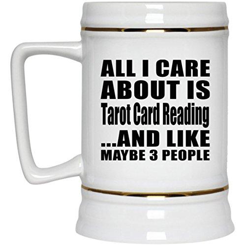 todas las tarjetas de mi la es Tarot Lectura y como Quizás 3personas de piedra, cerámica de cerveza cerveza taza, mejor regalo para cumpleaños, aniversario, Pascua, San Valentín Madre 's Father' s Day