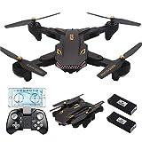 SYMTOP TIANQU VISUO XS809S 2.4GHz WiFi FPV Telecamera RC Aerei di Drone Quadcopter, Nero 720P
