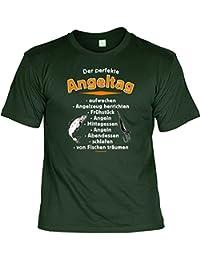 Der perfekte Angeltag Angler T-Shirt mit Urkunde : )