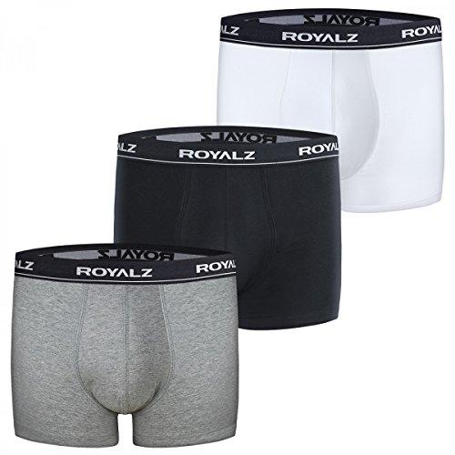 ROYALZ Boxershorts (3 Stück) Herren Unterwäsche Set Unterhosen 95% Baumwolle 5% Elasthan Mehrfarbig