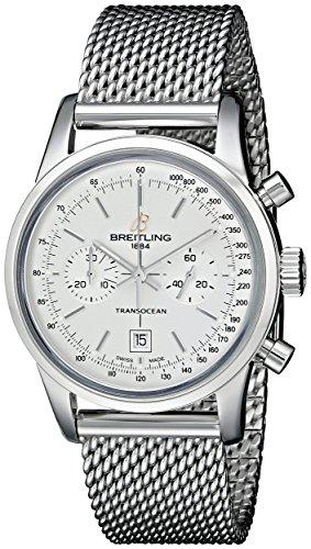 Breitling uomo a4131012-g757ss orologio analogico display svizzero automatico argento