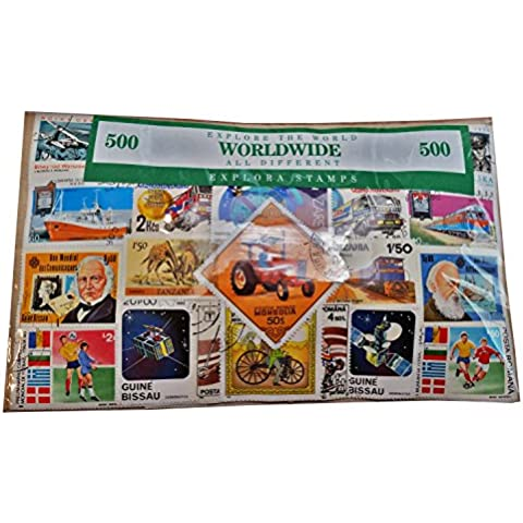 My London Souvenirs Confezione da 500 francobolli di tipo S01, da tutto il mondo, tutti differenti, ricordo da collezione  Francobolli pregiati da collezionare. Ricordo da collezione con francobolli di tutto il mondo. Souvenir unico e di carattere educativo.