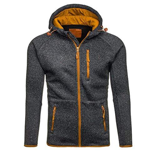 Cashmere Classic Mantel (Coat Herren,SANFASHION Männer Herbst Winter Coat Casual Reißverschluss Langarm Pullover Sweatshirt Hoodie Mäntel Top)