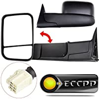 ECCPP Mirrors Power Heated Towing Side View Left Right Passenger & Driver Side Pair for 1998-2001 Dodge Ram 1500 2500 3500 Truck by ECCPP