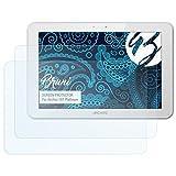 Bruni Schutzfolie für Archos 101 Platinum Folie, glasklare Displayschutzfolie (2X)